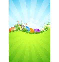 Beautiful Easter Holiday Background vector image