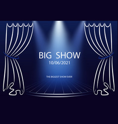 Big show poster template announcement template vector