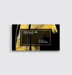 Black and gold business card template vector