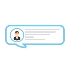 Blog user blogger icon vector
