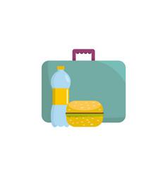 breakfast icon flat style vector image