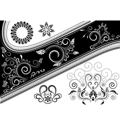 Canvas with pattern and details for design vector image