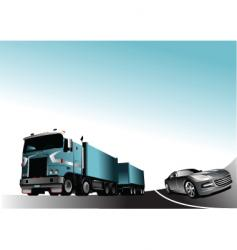 car and lorry vector image