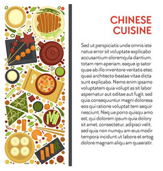 Chinese cuisine restaurant menu banner china vector