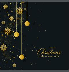 christmas celebration dark poster design with vector image