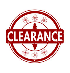 clearance rubber stamp for winter holiday vector image
