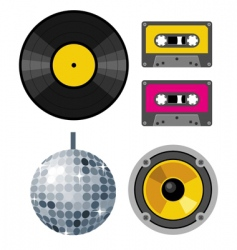 club design elements vector image