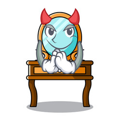 Devil dressing table mascot cartoon vector