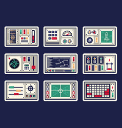 Different control panels vector