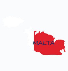 Flag map of malta vector
