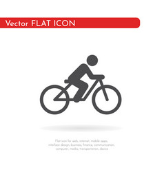 flat cycling icon for web business finance and vector image