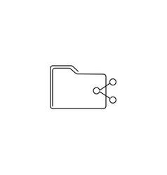 folder share line icon vector image