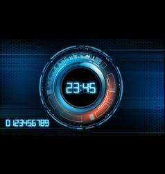 Futuristic modern clock face vector