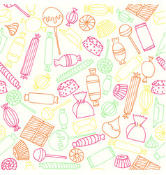 hand drawn candy seamless pattern vector image