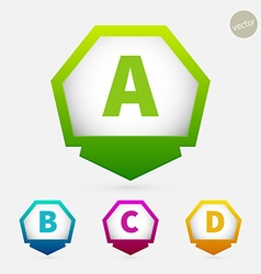 Hexagon pointer vector image