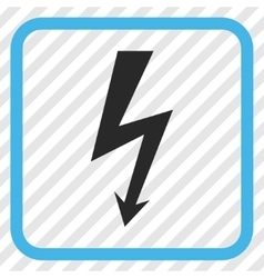 High Voltage Icon In a Frame vector
