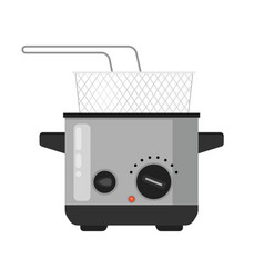 Home deep fryer for cooking french vector