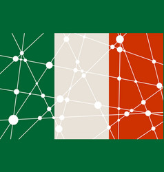 italy flag concept vector image