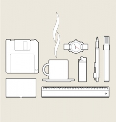 items vector image