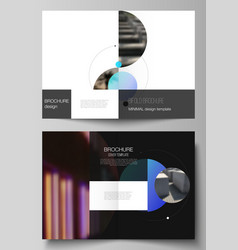 layout of two a4 format modern cover vector image