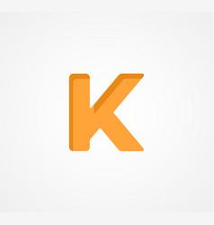Letter k bold geometric font element modern vector