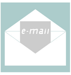 Letter the white color icon vector