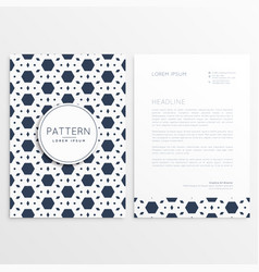 letterhead template with abstract hexagon pattern vector image