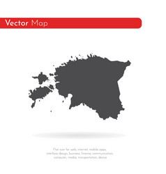 map estonia isolated black vector image