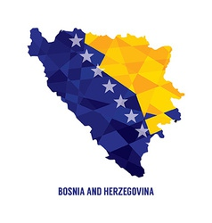 Map of Bosnia Herzegovina vector image