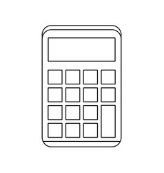 math calculator device vector image
