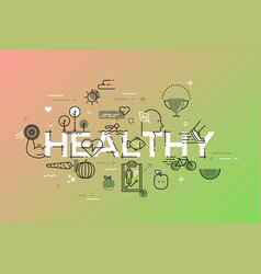modern thin line design concept for healthy vector image
