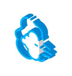 Nausea symptomp pregnancy isometric icon vector