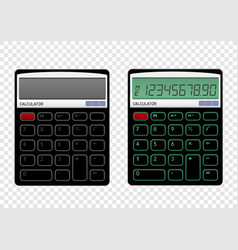 On off calculator vector