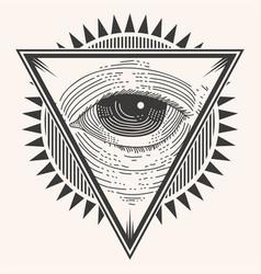 one eye badge vector image