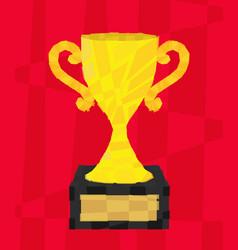 polygon cup vector image