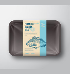 Premium quality dorado pack abstract fish vector