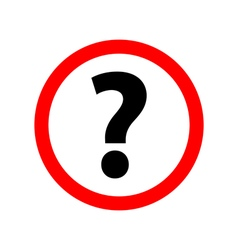 Question Icon Picture on white background vector