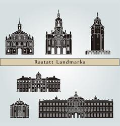 rastatt landmarks vector image