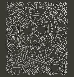 Rock-n-roll hannddrawn poster vector