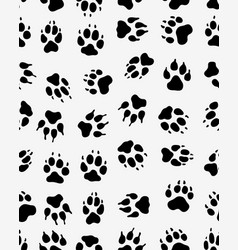 seamless print of dogs paws vector image