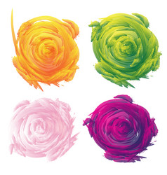 set of abstract floral background vector image vector image