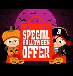 special halloween offer design background vector image