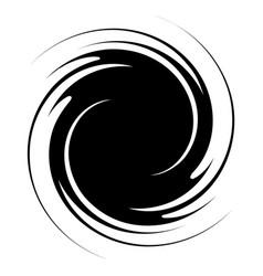 Spiral swirl twirl abstract design element vector