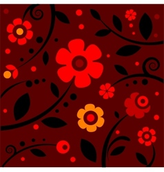 stylish black and red pattern vector image