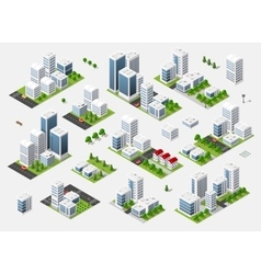summer town quarter vector image