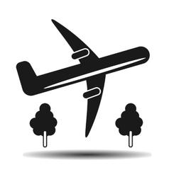 Takeoff plane black vector