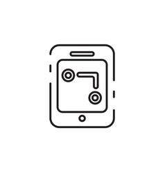 Thin line gps icon vector