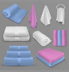 towel stack luxury stacked towels rolled vector image