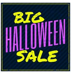 typographic design Halloween sale poster vector image