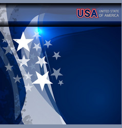 usa flag color template vector image